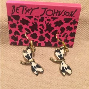 Dalmatian Colored dragonfly earrings